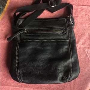 The sak black leather crossbody purse